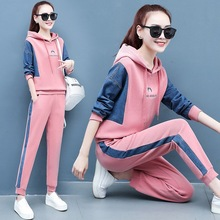 4XL Spring Women Sportswear Tracksuit Letter Printed Hoodie Sweatshirt+pant Running Jogger Casual Fitness Workout Set