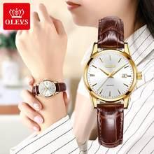 OLEVS Top marque Quartz femmes montres bracelet en cuir étanche mode femmes montre Date horloge