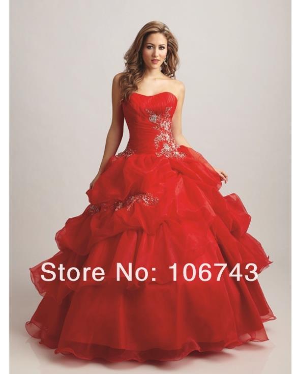 2018 New Design Hot Vestido De Festa Longo Red Ball Bridal Gown Custom Lace Up Beading Appliques Mother Of The Bride Dresses