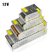 Lampu Transformer 1A 2A 3A 5A 8A 10A 12A 15A 20A 30A 40A 110-265V untuk 12V driver LED Switch Power Supply Adapter untuk LED Strip(China)