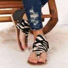 2020 Women Sandals Leopard Print Summer Shoes Women plus Size NEW fashion Flat with shoes Women Sandals Summer Shoes Sandals summer style flat shoes plus size women s fashion bohemian bandage cotton sandals clip toe sandals shoes