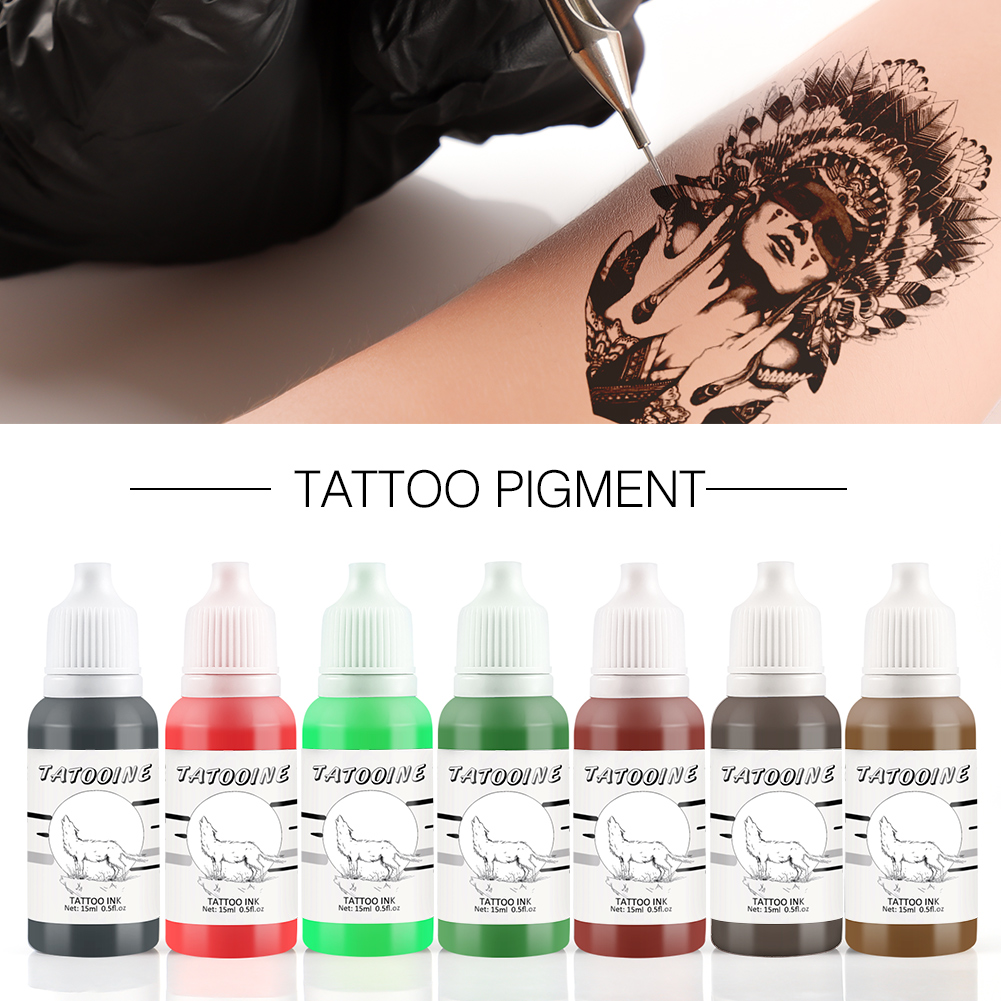 15ml Natural Plant Tattoo Pigment Permanent Makeup Tattoos Ink Pigment For Body Professional Beauty Art Supplies New