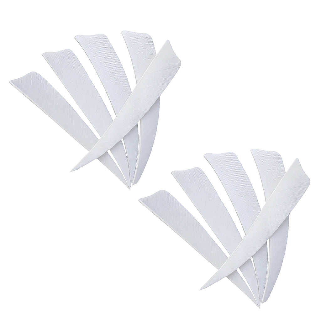 """MagiDeal 12 pcs 4/"""" Turkey Feathers Hunting Shield Fletching DIY for Arrows"""