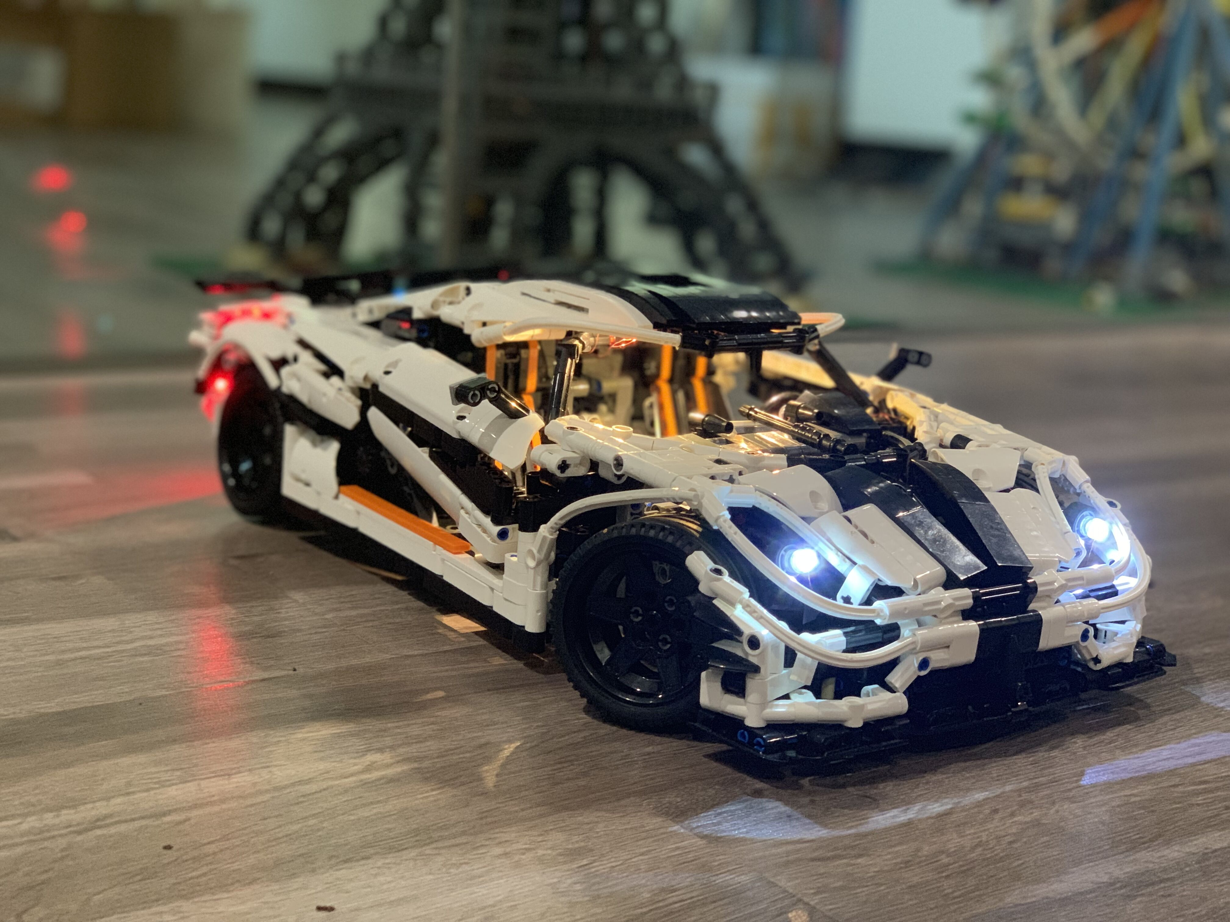 Koenigsegg One DIY Led Light Set For Compatible IEGOset MOC - 4789 Rebrickabl <font><b>23002</b></font> technic race Car Building Blocks Toys Gifts image