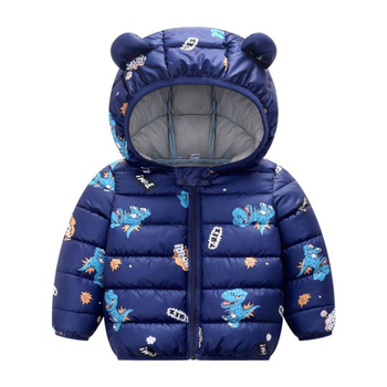 LZH 2020 Autumn Winter Newborn Baby Clothes For Baby Boys Jacket Baby Dinosaur Print Outerwear Coat For Infant Baby Girls Jacket 8