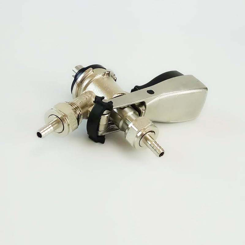 Stainless steel probe brass body S type keg coupler keg head with metal handle in Other Bar Accessories from Home Garden