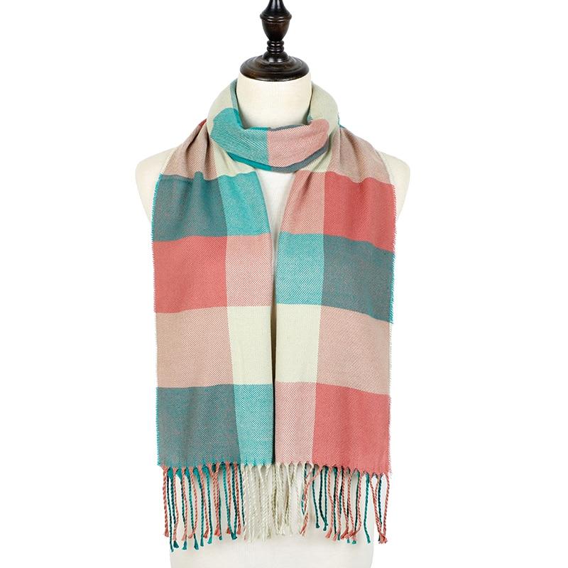 Winter Plaid Scarf Women Foulard Solid Scarves Female Shawls And Wraps 2019 New Designer Cashmere Scarfs Luxury Bufandas Hombre