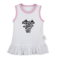 Find Your Road Forest State of Mind American Memorial Day Newborn Baby Girls Dresses Toddler Sleeveless Dress Infant Clothes(China)
