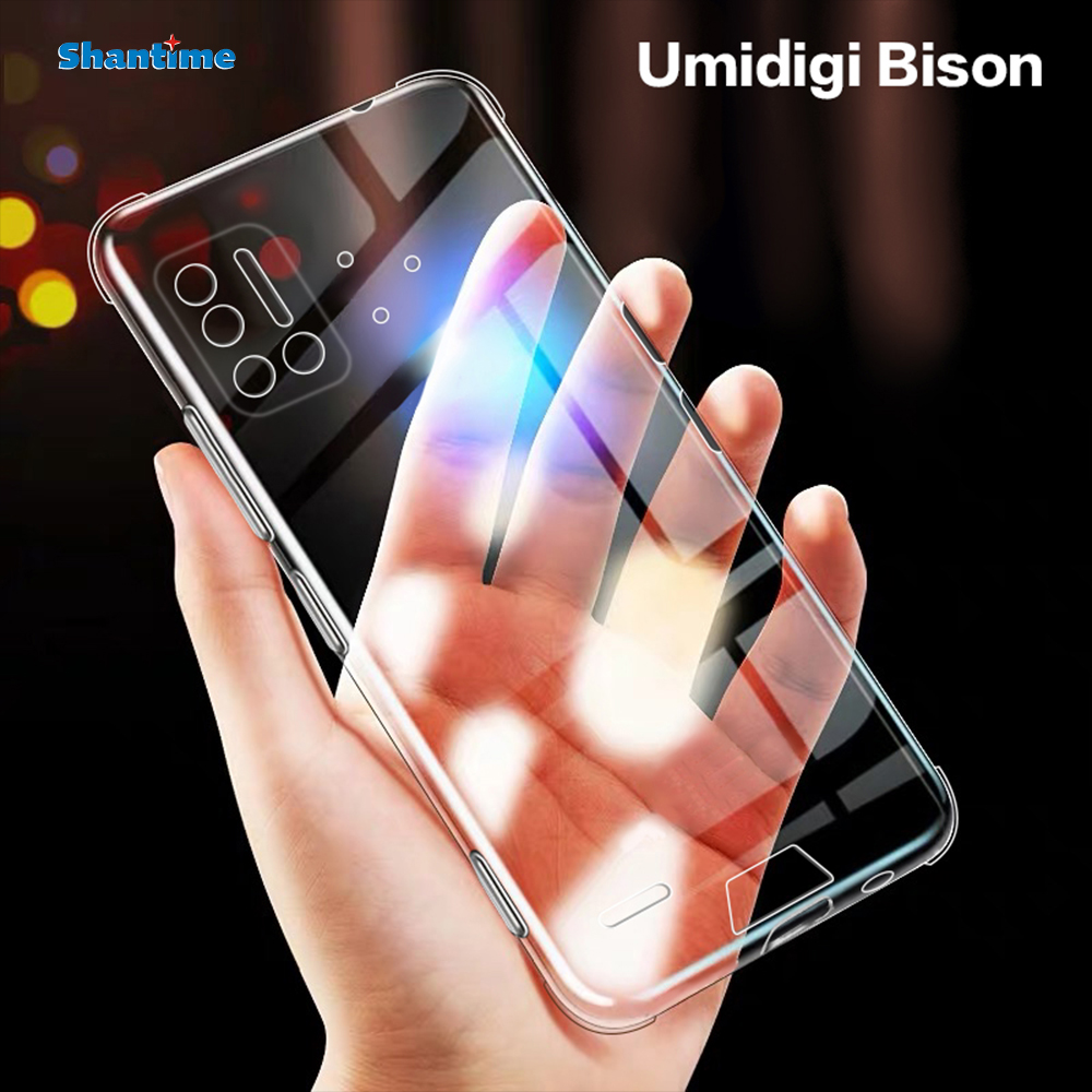 For Umidigi Bison Case Ultra Thin Crystal Clear Shock Absorption Technology Bumper Soft TPU Cover Case For Umidigi Bison 6.3"