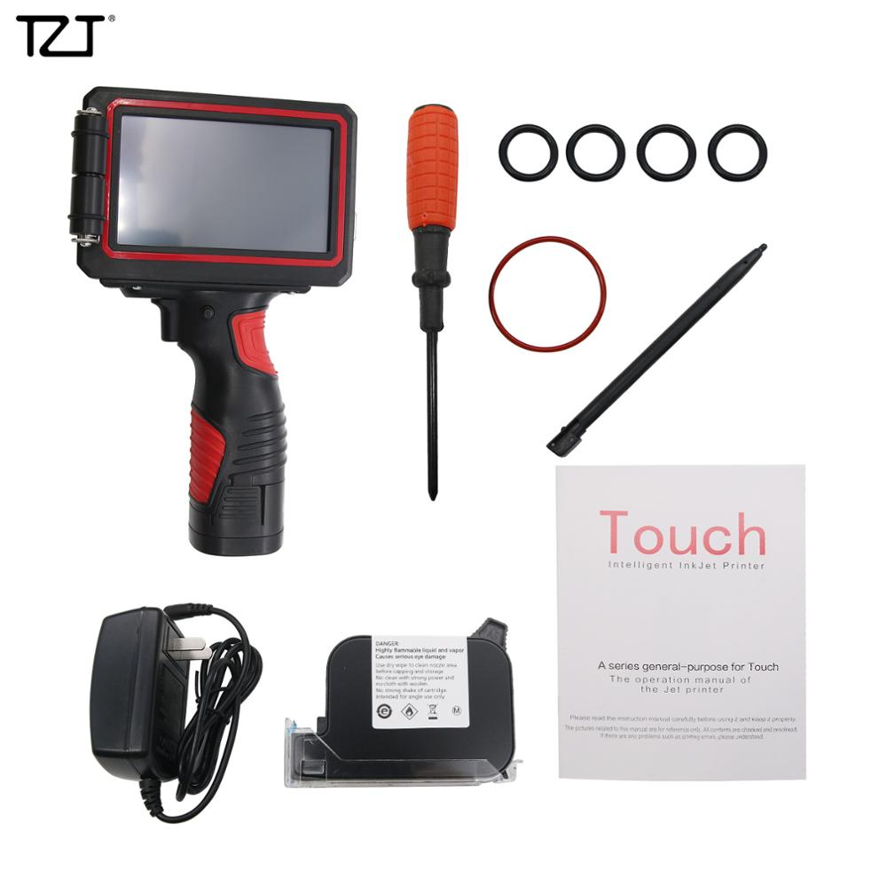 "TZT 5"" 600DPI LED Screen Handheld Inkjet Printer Smart Date Coder Ink Coding machine"