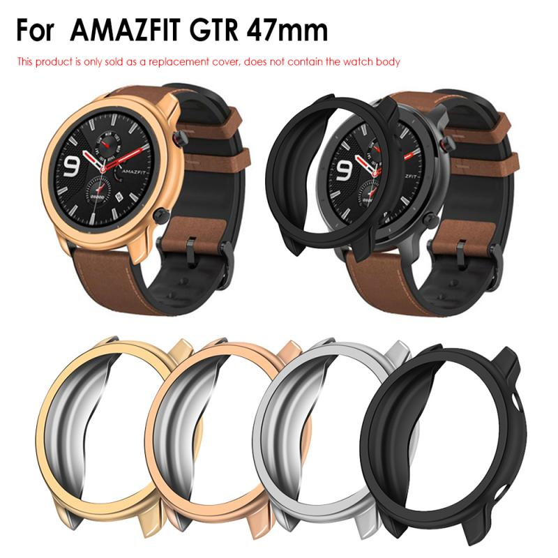 Intelligent Watch Band Case For Huami AMAZFIT GTR 47mm Cover Screen Protector Frame Silicone Case Smart Bracelet Wriststrap
