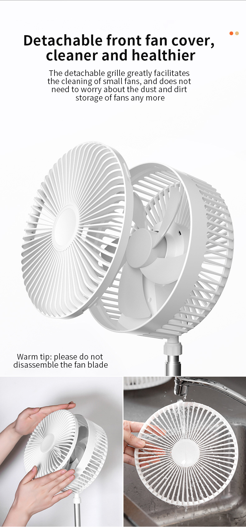 dobrável desktop clip-on ventilador elétrico, pendurado a