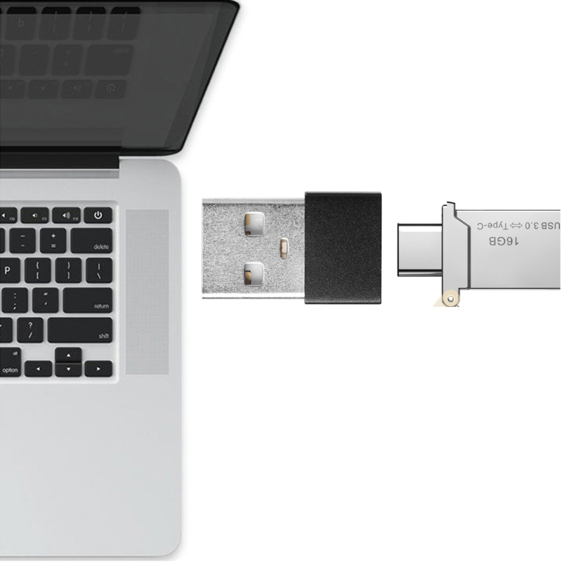 USB 2.0 Male To Type C USB 3.1 Female Converter Charging Adapter Data Transfer