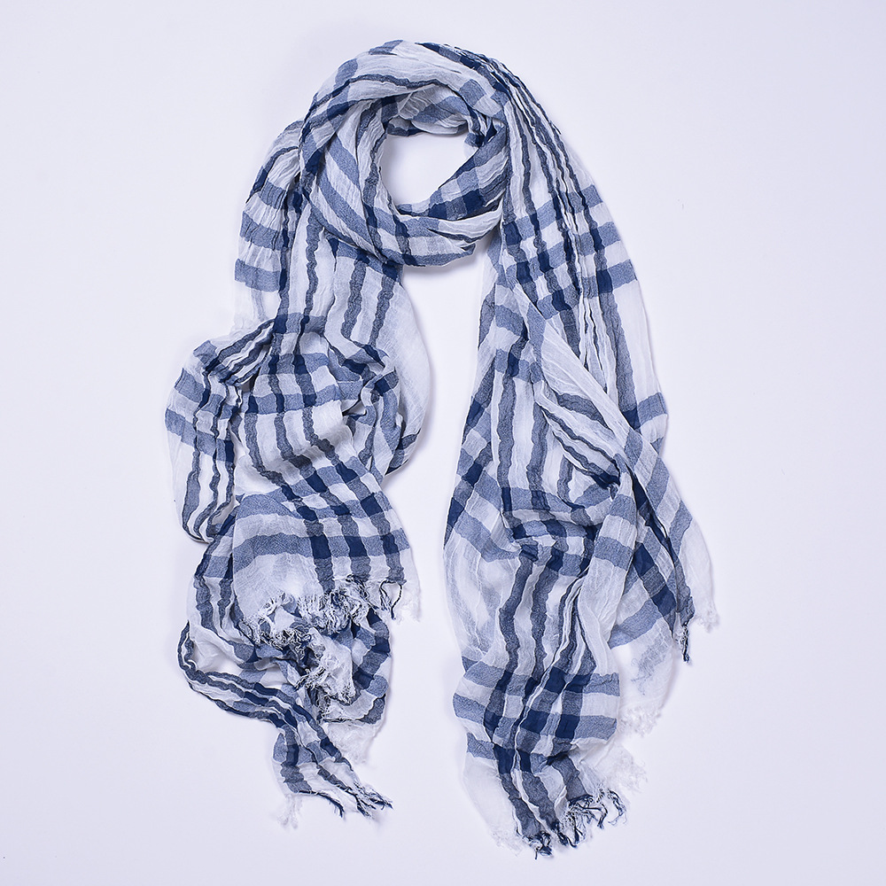2018 Plaid Stripes Spring And Autumn Scarf For Both Men And Women Ultra-Comfortable Exta-long Beach Towel Shawl