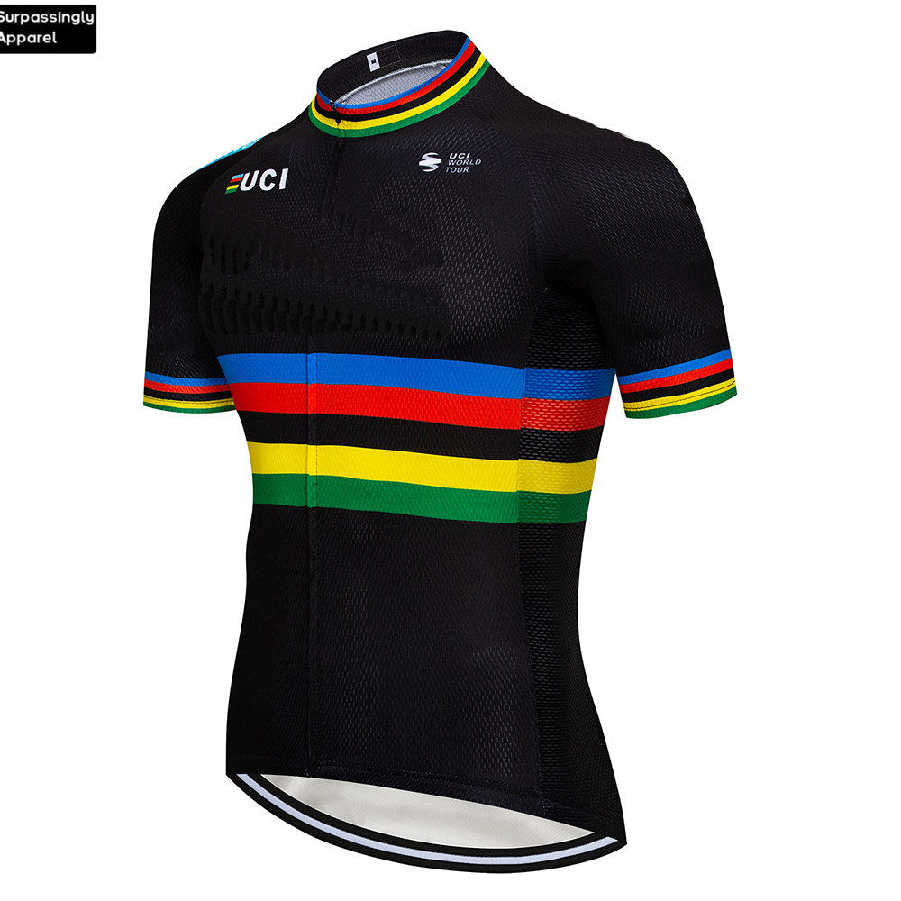 2019 Black UCI <font><b>Custom</b></font> 6XL Cycling <font><b>Jersey</b></font> Tops Summer Cycling Clothing Ropa Ciclismo Short Sleeve <font><b>Bike</b></font> <font><b>Jersey</b></font> Maillot Ciclismo image