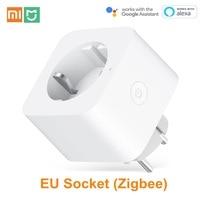 Xiaomi Mijia EU Smart Socket WiFi Zigbee Remote Control Time Switch Power saving Works with