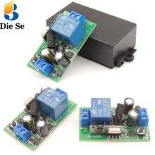 Controle remoto rf de 433 mhz, receptor de relé ac 220v 10a 1ch para garagem universal/porta/luz/led/fanner/motor/transmissão do sinal