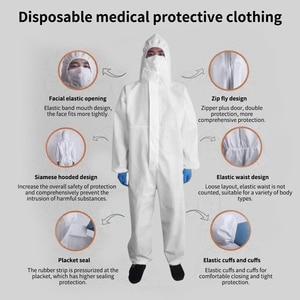 Image 5 - גבוהה אנטיבקטריאלי לשימוש חוזר בידוד חליפת למנוע פלישה של צוות מגן בגדי אבק הוכחה סרבל בתמיסה