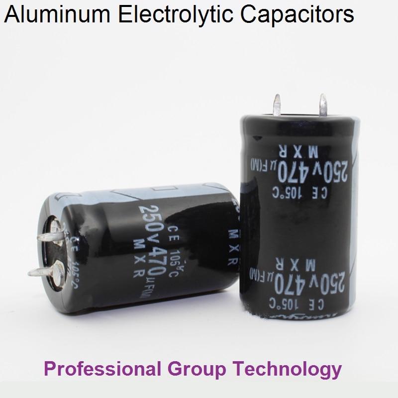 4pcs/lot 250v  470UF 250v 470UF Aluminum Electrolytic Capacitor Size 22*40mm 20%
