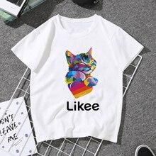 المرأة 2020 الصيف مضحك الأميرة رواج Harajuku تي شيرت تي شيرتات ورق الرسم البياني فام الكورية القمم Kawaii الشارع الشهير Camiseta Mujer