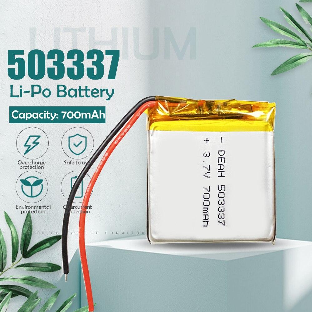 3.7V 700mAh 503337 litowo-polimerowa bateria litowo-jonowa do MP3 MP4 zegarek zestaw słuchawkowy Bluetooth głośnik power bank akumulator li-po cell