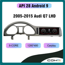 Android 9 octa core 6 128G Dvd Automotivo Car Multimedia Radio Player per Audi Q7 2005-2015 Video di navigazione GPS