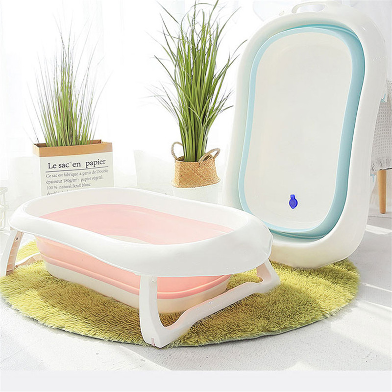 Banheira de bebê dobrável, banheira de bebê para recém-nascido, banheira portátil para crianças, ecológica, antiderrapante e segura