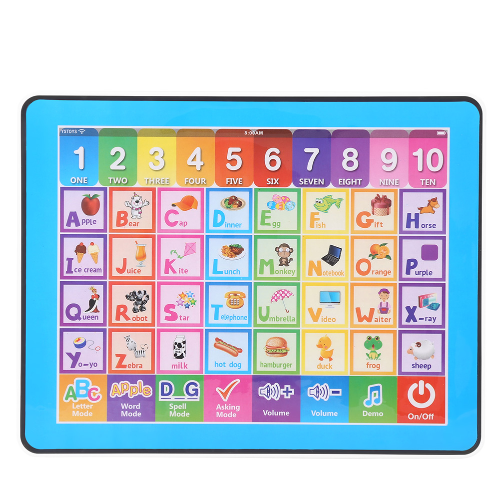 Educational Study Learning Machines Baby Kids Touch Screen Learning English Machine Tablet Early Educational Toy for Children image