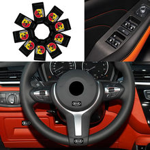 10x Adesivos de Carro Pequeno Volante Adesivo Decorativo para Audis A3 A4 B8 8P B6 A6 C6 C7 A5 8V Q5 B7 Q7 C5 A1 B5 D3 D4 Q3 8U
