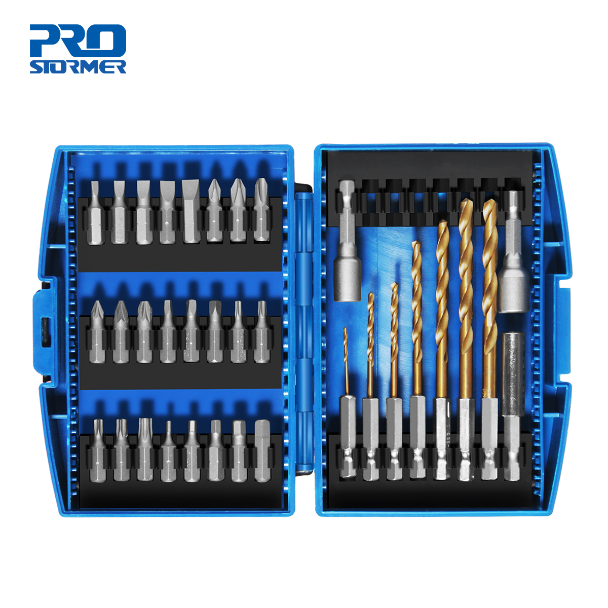 PROSTORMER 34pc Screwdriver Bit & Nut Driver Set Phillips/Slotted Bits With Magnetic Multi Tool Home Appliances Repair Hand Tool