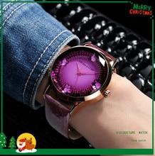 цена на 2019 new genuine watch female fashion trend big dial ladies watch waterproof quartz watch belt student table