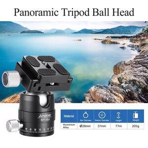 Image 3 - فيديو مدمج بانوراما ترايبود الكرة رئيس كاميرا Ballhead جبل محول 360 درجة دوران سبائك الألومنيوم مع 1/4 بوصة المسمار QR لوحة