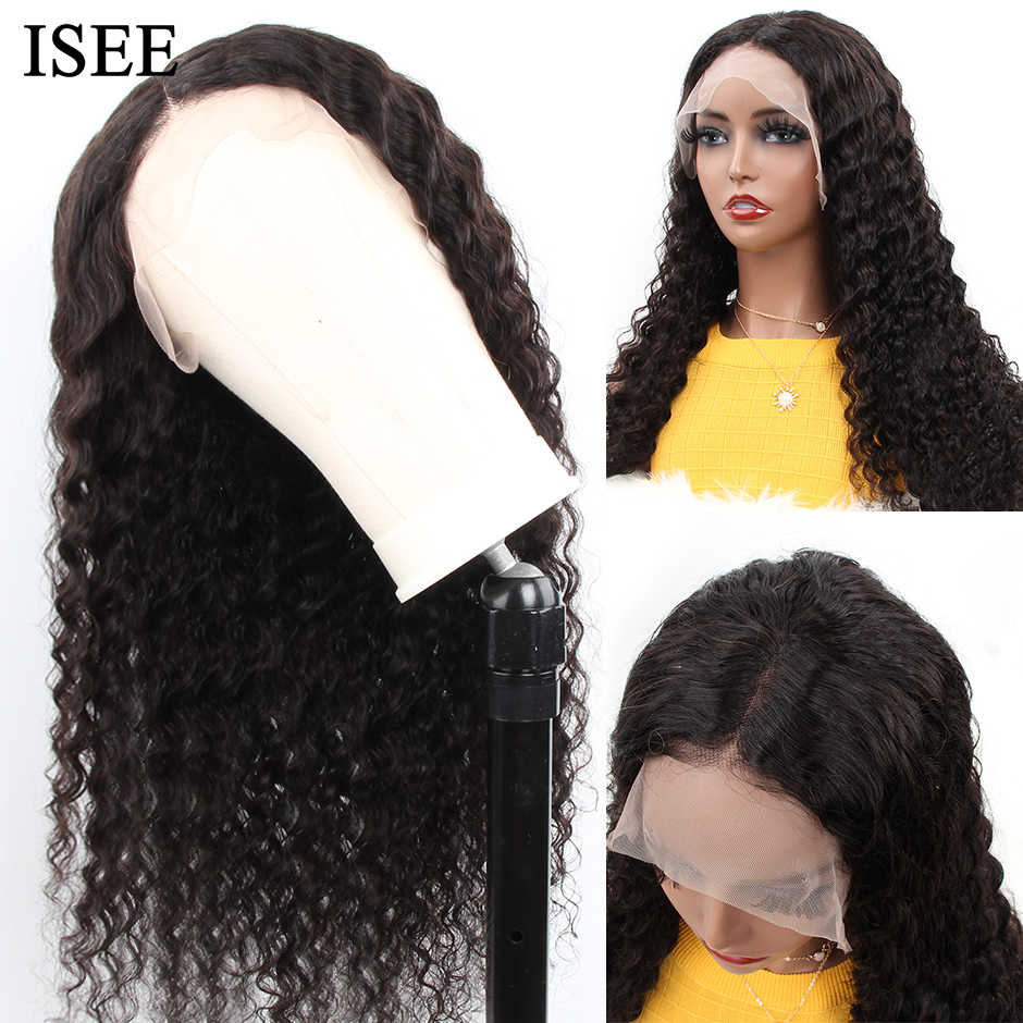 Malaysian Lose Tiefe Perücken Für Schwarze Frauen Remy 13X4 ISEE HAAR Perücken 130% 150% 180% 250% Dichte Spitze front Menschliches Haar Perücken