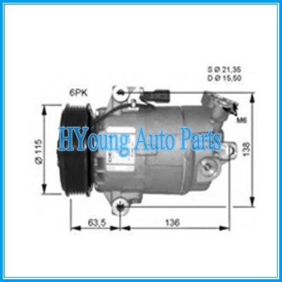 Compresores de CA de alta calidad para coche Nissan Qashqai 1,6 DUALIS 2,0 dCi 2007-2011 92600BR00A 92600JE00A