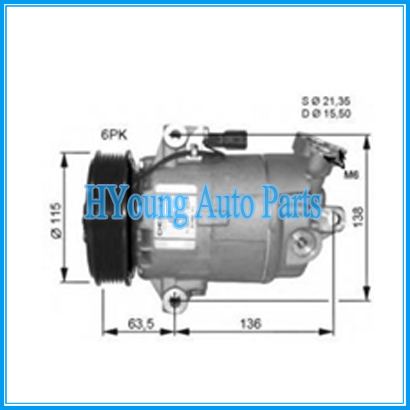 high quality  Auto AC Compressors  for Car Nissan Qashqai 1.6 DUALIS 2.0 dCi 2007-2011 92600BR00A 92600JE00A