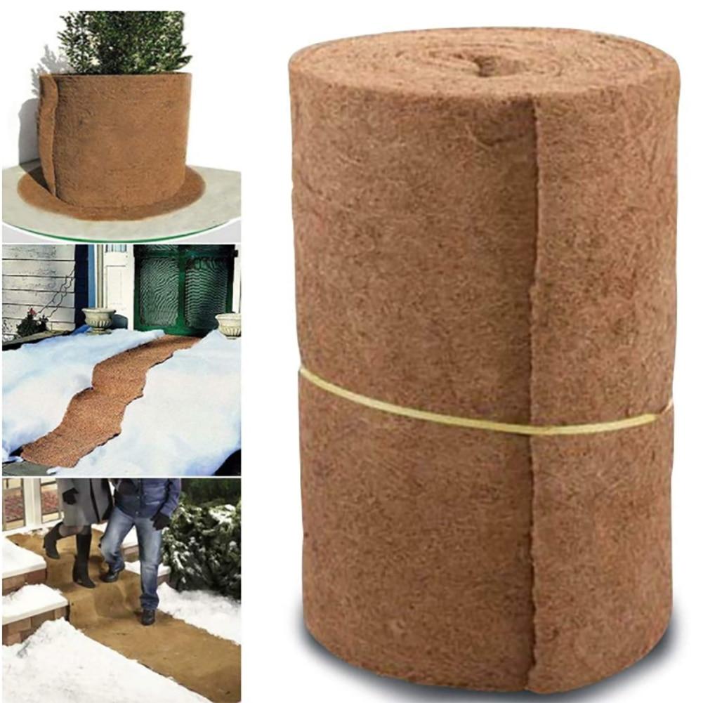 Coco Liner Bulk Roll 24inch Width 33inch Lenth Flowerpot Mat Coconut Palm Carpet For Wall Hanging Baskets Garden Supplies