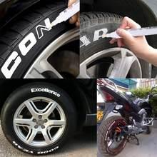 10 pçs/lote Canetas Permanentes Cor Branca À Prova D' Água Óleo Pintura Desenho Pen Set Graffiti Pen Para Carro Motocicleta Pneu