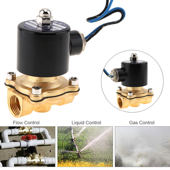 Solenoid Valves 1/2 DC 24V Electric Solenoid Valve Pneumatic Valve Brass Body for Water / Oil / Gas Pneumatic Components smc type pneumatic solenoid valvesy3120 5lzd m5 sy5120 4lzd 01 sy7120 3lzd 02series valve pneumatic solenoid valve