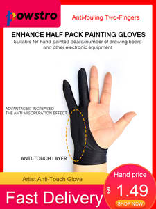Anti-Touch-Glove Screen-Board Drawing-Tablet iPad Two-Fingers Artist for Right And Left