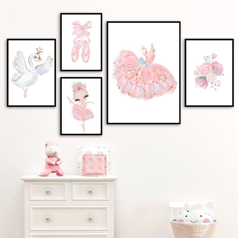 Ballerina Wall Art Prints Girl's Room Decor