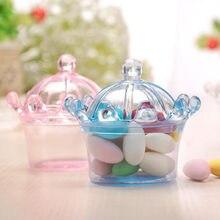 12 Stuks Leuke Candy Box Baby Shower Gunsten Gift Dozen Party Decoraties Tray Verjaardag Bruiloft Kroon