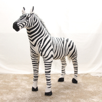 stuffed plush toy simulation animal standing zebra large 100x90cm plush toy birthday gift s4224