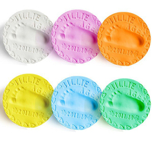 Baby Footprint DIY Toys Baby Air Drying Soft Clay Babies hand foot Imprint Kit Casting paw print pad ultralight stereoscopic Cas