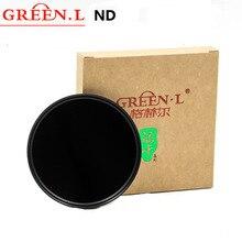 GREEN. L ND32 ND64 nd1000 nd2000 ND مرشح محايد الكثافة عدسة تصفية 49/52/55/58/62/67/72/77 لكانون نيكون سوني dslr كاميرا