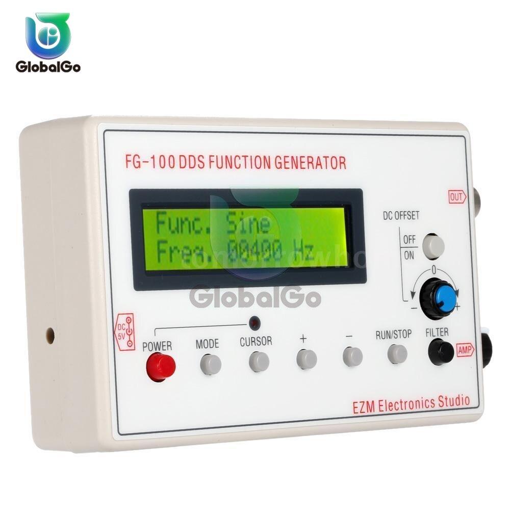 FG-100 DDS функция генератор сигналов счетчик частоты 1 Гц-500 кГц