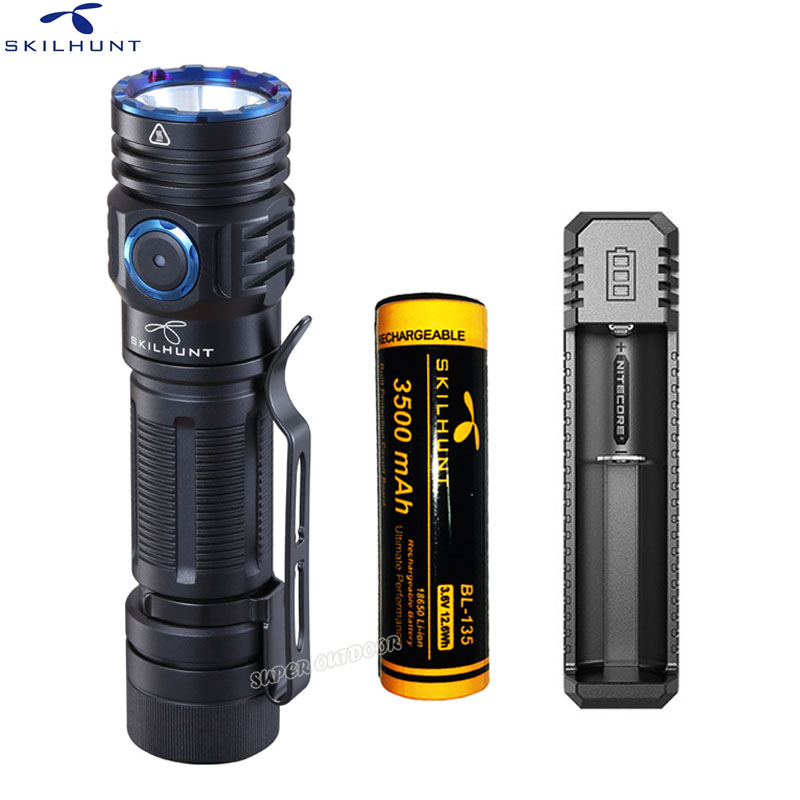 SKILHUNT M300 XHP35 High Power 2000 Lumens EDC Edition USB Magnetic Rechargeable Waterproof LED Flashlight for Hunting camping image