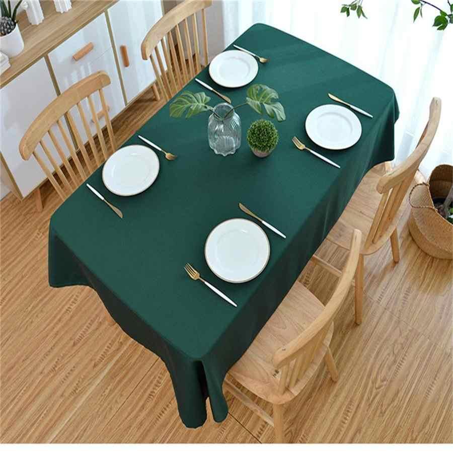 AiFish mantel de mesa moderno totalmente combinable sólido rojo verde lavable café mantel de mesa para cenar para decoración de banquetes de fiesta MY091-5