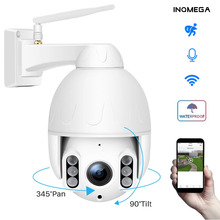 INQMEGA 1080P PTZ Dome Camera Human Tracking Wireless Outdoor Wifi Camera IP66 Waterproof Two way Audio 50M Night Vision