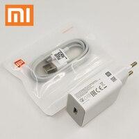 Xiaomi Mi 9 SE cargador rápido 18W adaptador de carga rápida USB Cable de tipo C Sor MI 10 9 SE Pro 8 6 9T Redmi K30 K20 K40 Nota 7 8 pro