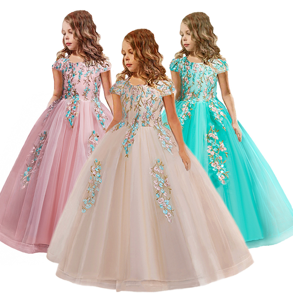 Children dress 2020 new children's performance clothing Pompon princess